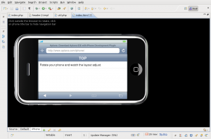 Browser interno do IPHONE no Eclipse/Aptana