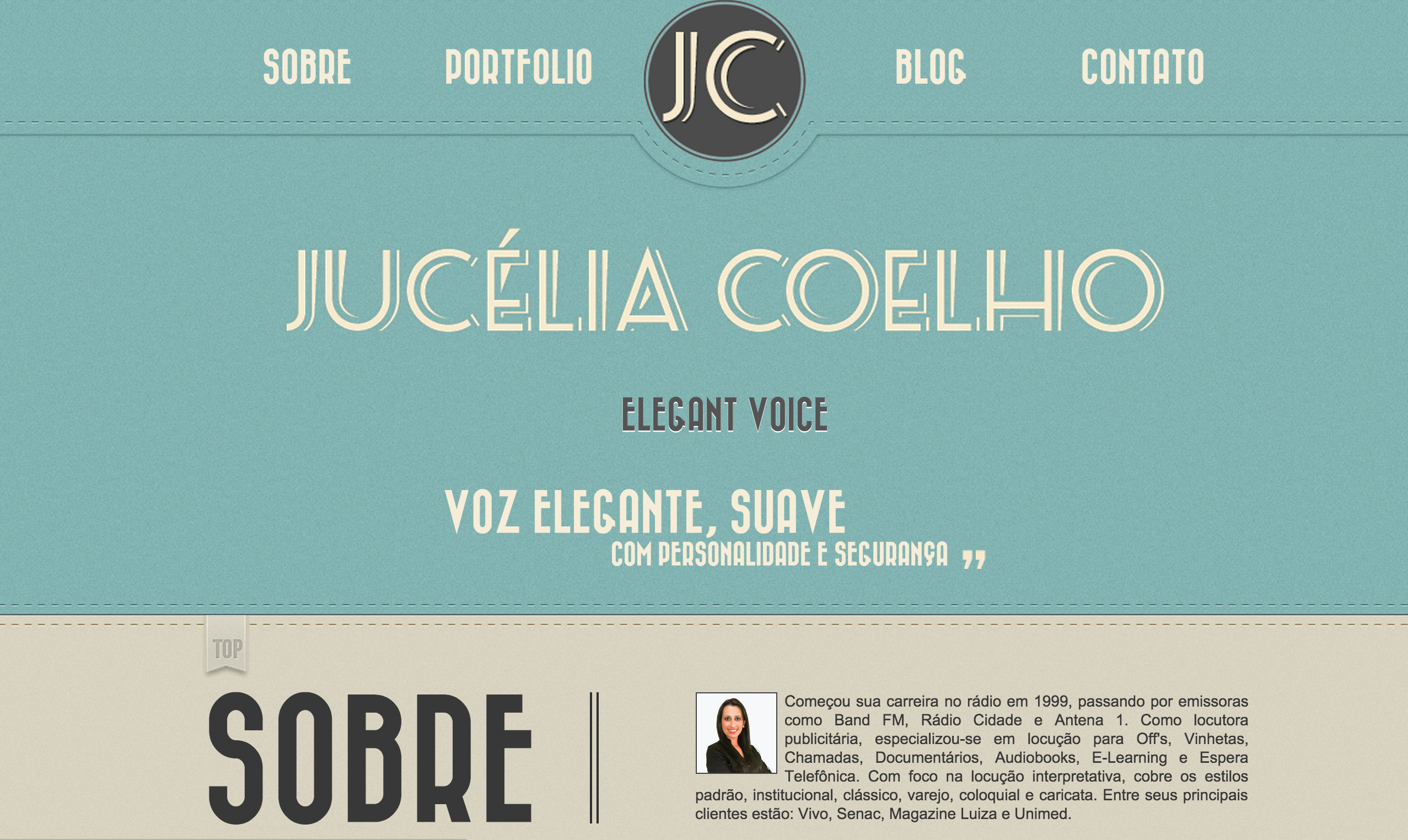Website - Jucélia Coelho - Elegant Voice
